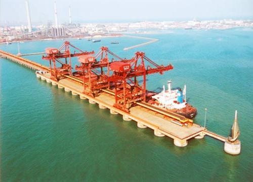 青岛海运港末年吞吐量将达6亿吨
